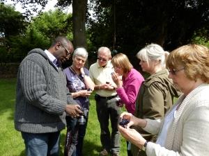 The Top - Derek Richards showing FOPP members a photo