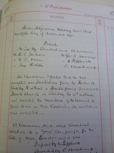 Entry from Guiseley Town Council Minutes of 12th November 1918.